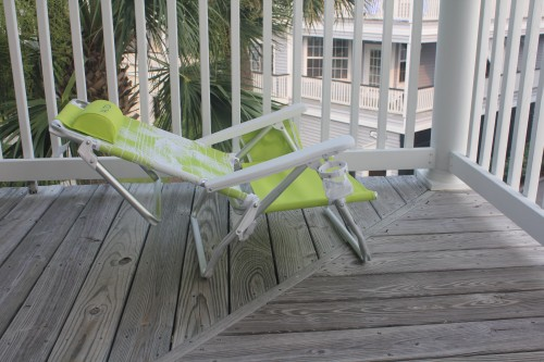 Nautica Beach Chair Very Reclined