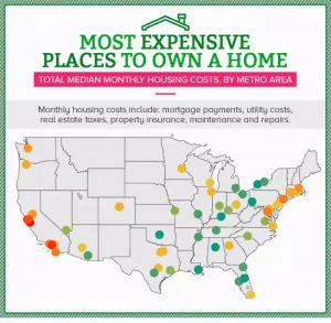 Most Expensive places to own a home